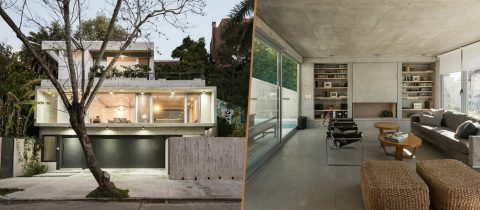 Minimalistische villa van beton in Argentinië