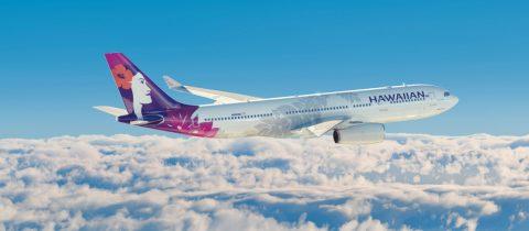 Een vliegtuig van Hawaiian Airlines. De maatschappij die heeft bewezen dat tijdreizen niet zo ingewikkeld is.