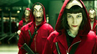 Scene uit de Netflix serie La Casa de Papel
