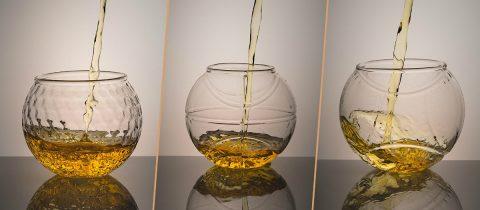 Whiskyglas in de vorm van verschillende ballen voor whisky