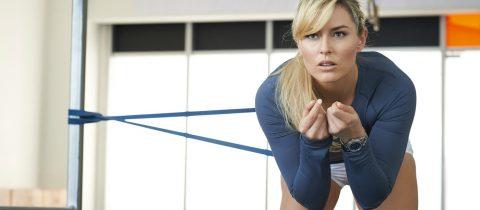 lindsey vonn, oefeningen, work-out, wintersport, benen