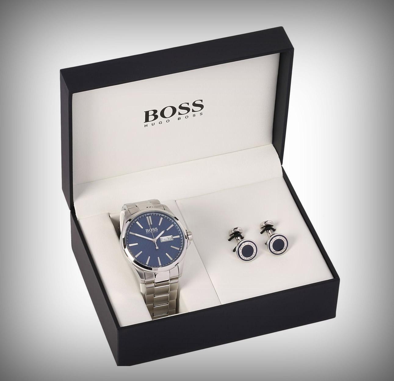 luxe betaalbare horloges, hugo boss gift set