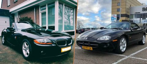 Tweedehands betaalbare cabrio's betaalbare cabrio BMW Z4, Mazda MX05 en Jaguar XK8