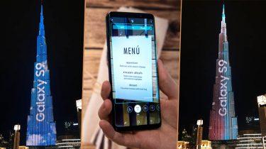 Samsung campagne op toren in Dubai