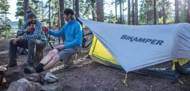 bikamper, topeak, mountainbike, tent, kamperen