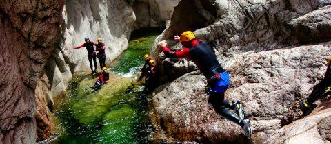 canyoning, europa, vriendenuitje, beste, spots