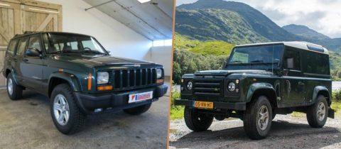 Betaalbaar betaalbare tweedehands terreinwagen terreinwagens Mercedes G Jeep Cherokee Land Rover Defender