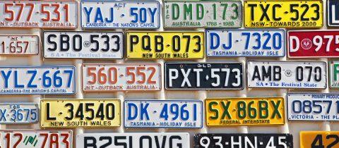 Nummerplaat kenteken nummerbord
