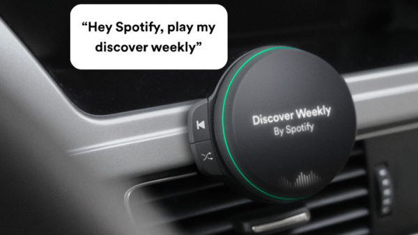 Spotify komt met een speaker voor in de auto