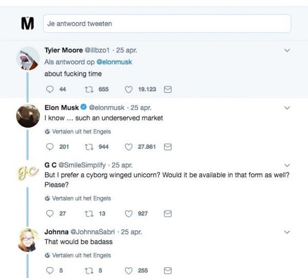 Elon Musk cyborg-draak