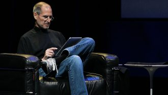 De New Balance sneakers van Steve Jobs