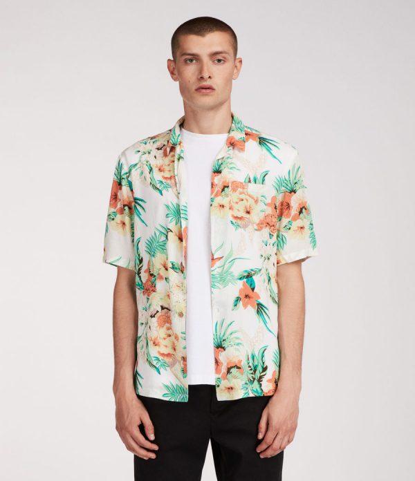 Herenkleding Manners AllSaints shirt hawaii