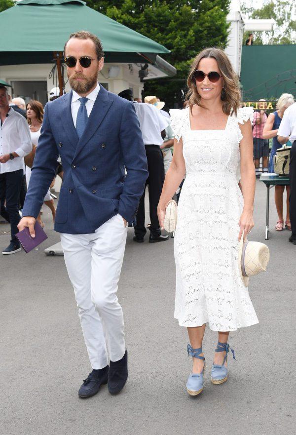 James Middleton Wimbledon goed gekleed