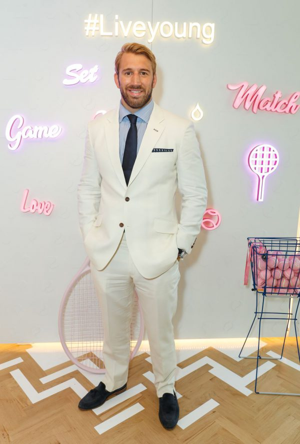 Chris Robshaw Wimbledon goed gekleed