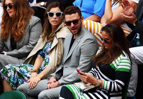 Justin Timerlake Wimbledon goed gekleed