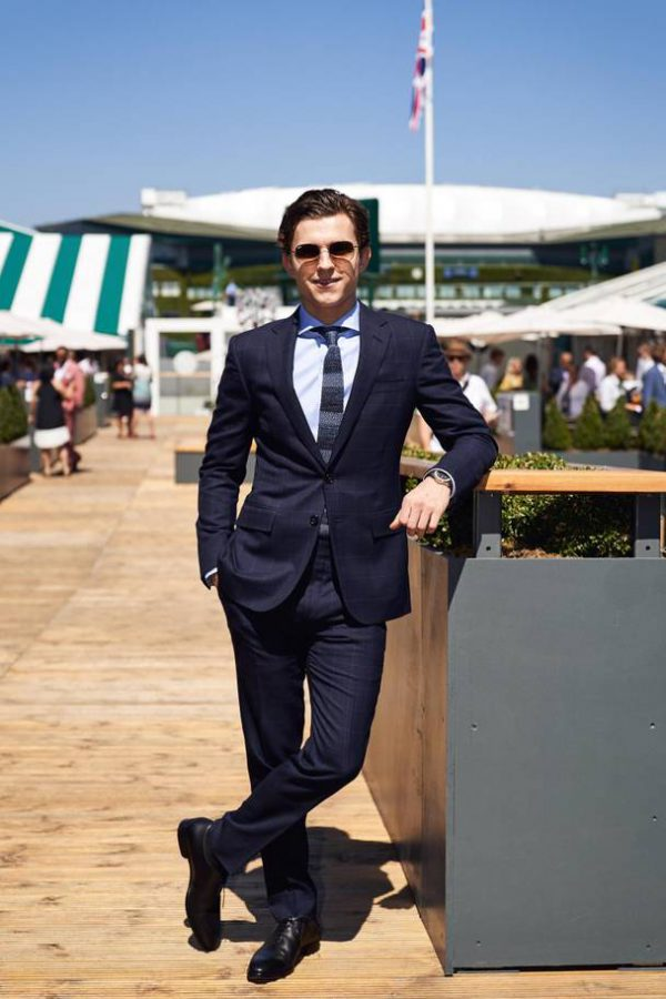 Tom Holland Wimbledon goed gekleed