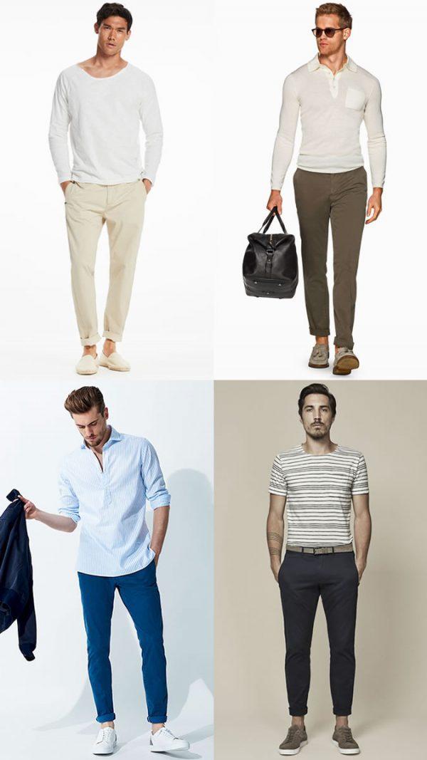 Lange broek met blote enkels