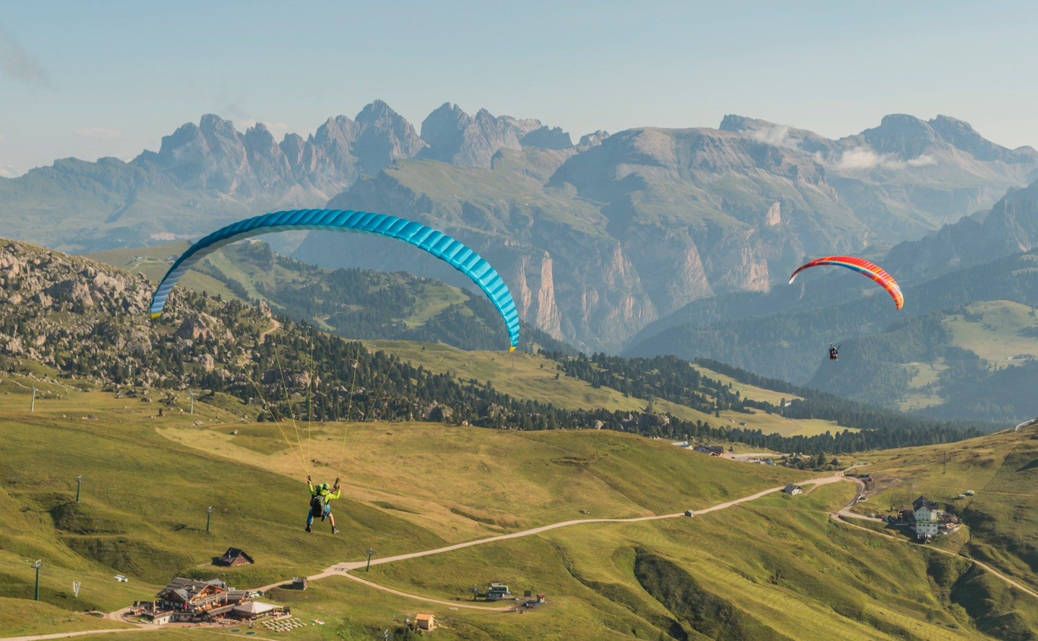 The North Face Mountain Festival paraglide