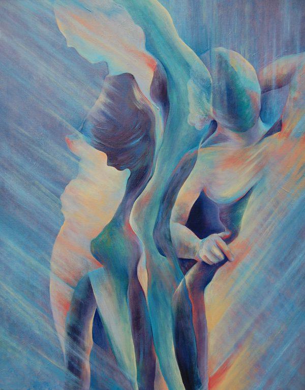 Schilderij, figuratief, modern interieur