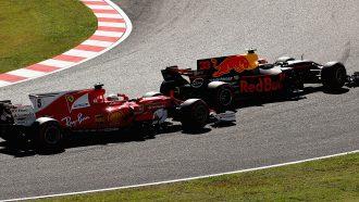Max Verstappen Sebastian Vettel Formule 1 GP Japan