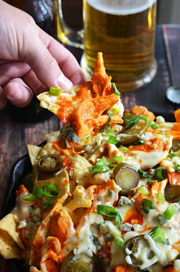 BUFFALO CHICKEN NACHOS cheat meal