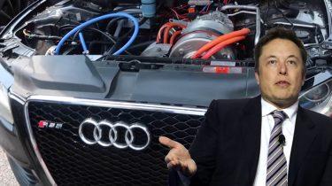 Audi S5 Tesla Elon Musk