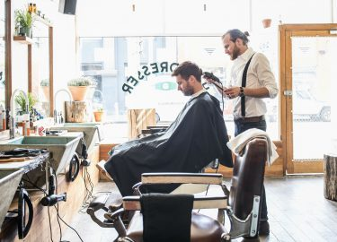 Blunder barbier afspeelknop play-knop