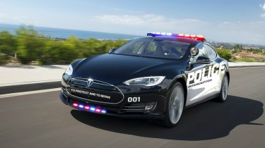 Tesla politieauto