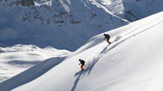 Op wintersport in de Franse Alpen