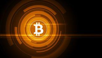 Bitcoin cryptocurrency in de lift stijging