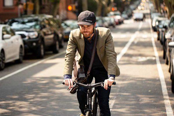 park diamond, stijlvolle, helm, pet, elektrische fiets