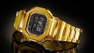 18 karaats gouden casio g-shock, 18 k gold, 1