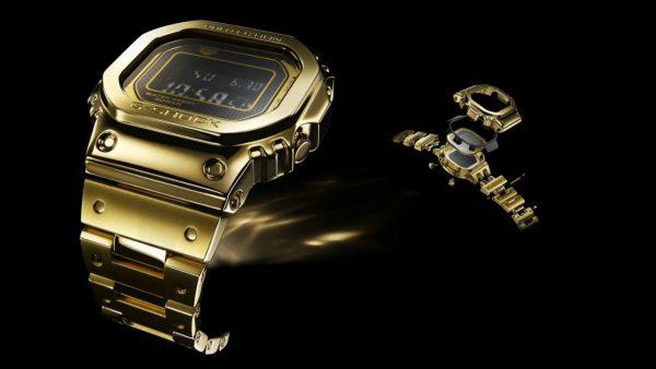 18 karaats gouden casio g-shock, 18 k gold