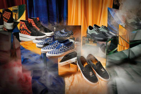 vans, harry potter, magische, zweinstein, sneakers, lijn, collectie, gryffindor, huffelpuff