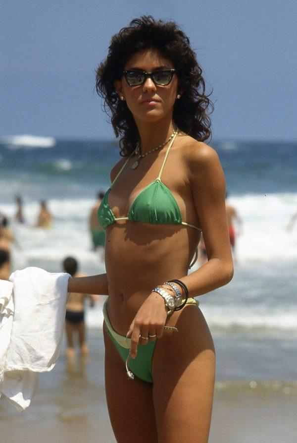 latina, vintage foto's, Reñaca Beach, Chili