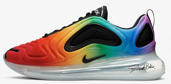 Nike Air Max 720 BETRUE, sneakers, pride maand, 2019, regenboog