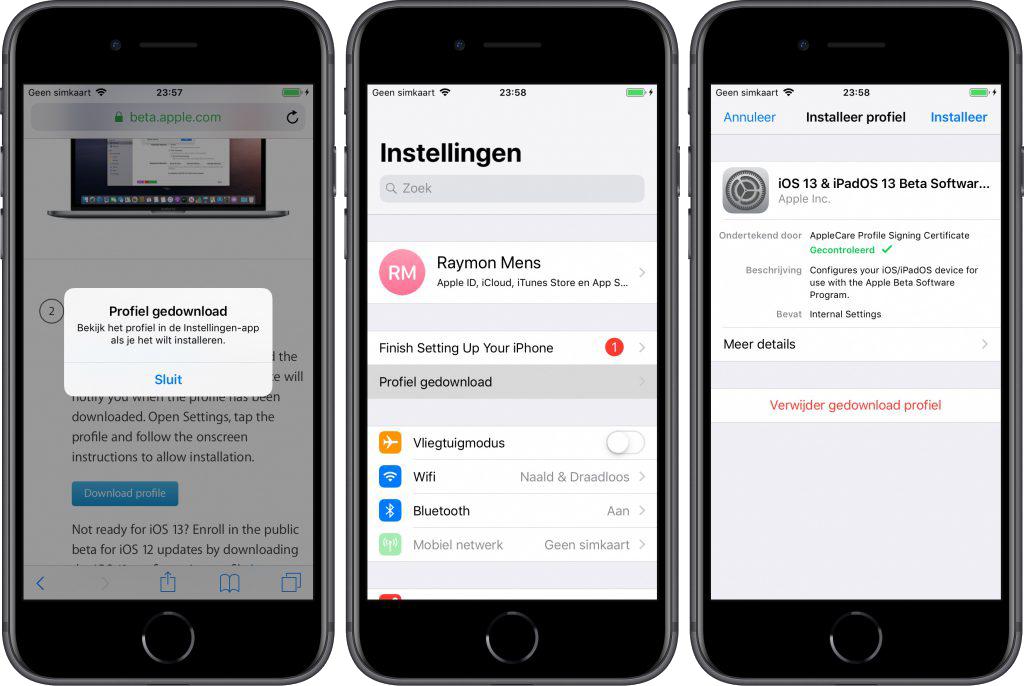 iOS 13 iPadOS MacOS beta Apple