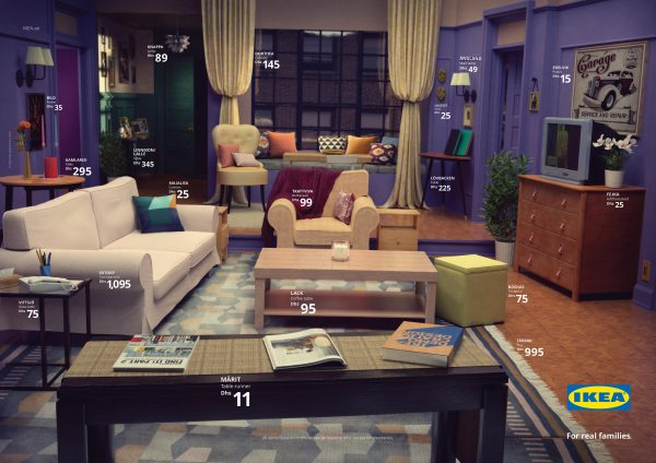 ikea, real life series, simpsons, stranger things, friends, 1