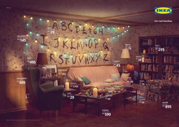 ikea, real life series, simpsons, stranger things, friends
