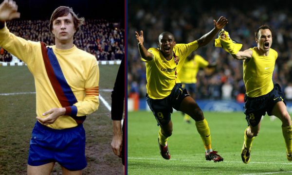 nieuw, uitshirt, fc barcelona, gelekt, shirt, geel, johan cruijff, seizoen 2019-2020