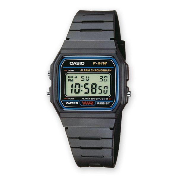 Casio F-91W-1YEF, klassieke en stijlvolle, horloges, onder de 100 euro