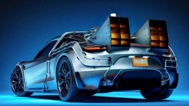 Tesla, DeLorean DMC-12, concept, auto, back to the future