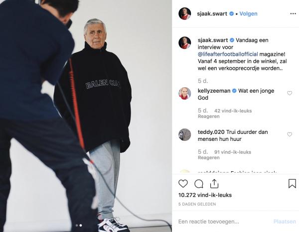 sjaak swart, designer sneakers, prada, balenciaga, life after football, instagram