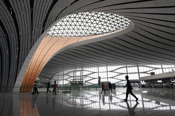 Beijing Daxing International Airport, zaha hadid architects, architectuur, zeester, vliegveld