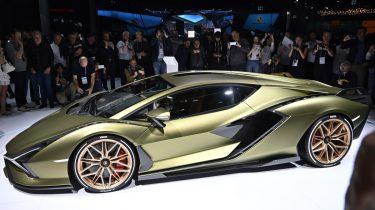 lamborghini sian, elektrische auto, sportauto, iaa, frankfurt, hybride supercars
