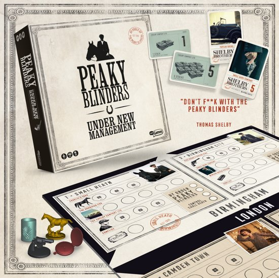 Peaky Blinders - Under New Management, bordspel