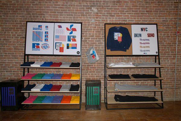 Russell Athletic, merk, pop-up store, jaren 90, new york