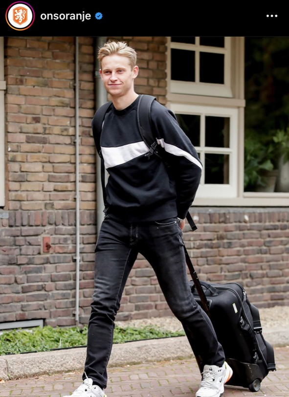 casual kledingstijl, nederlands elftal ,oranje internationals, fenkie de jong