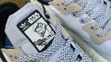 sneakers, star wars, adidas, stormtrooper nite jogger