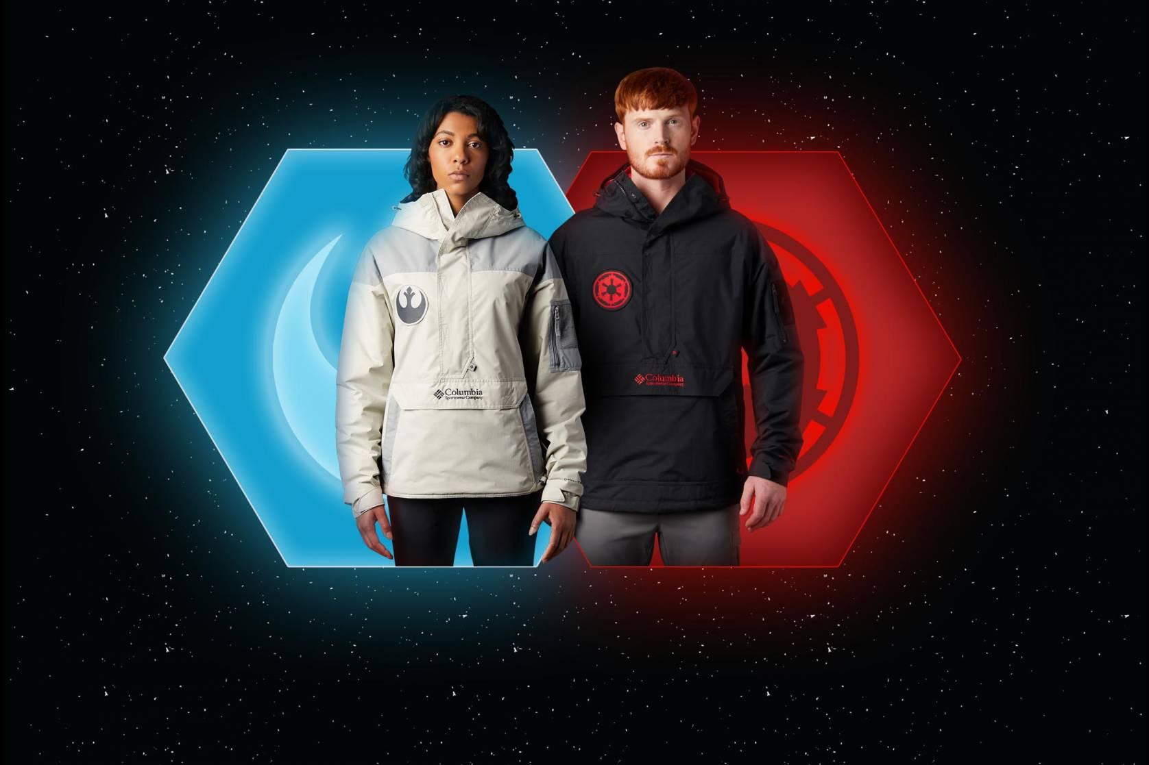 columbia, star wars, collectie, jedi, dark side, force, jas, jacket